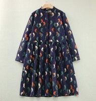 2016 Primavera E No Outono de Design de Moda Longo Plus Size Pássaro Papagaio Impressão Mulher Grávida Vestido de Maternidade