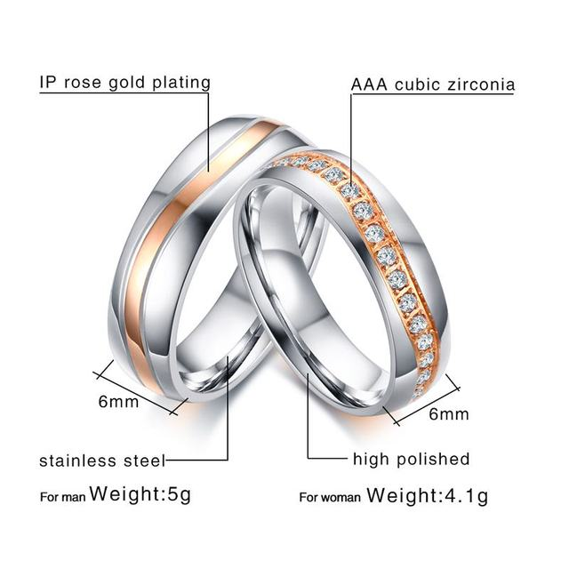 a3b27518f6 ... Vnox Luxury CZ Stones Wedding Rings Band for Women Men Wave Line  Alliance Couple Anniversary Promise ...