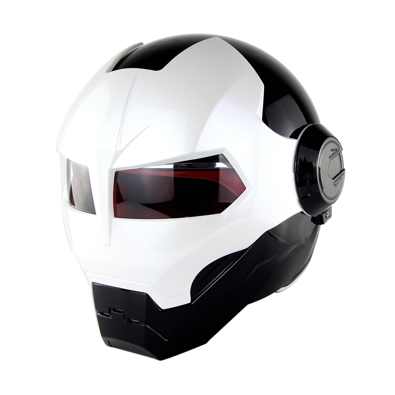 Soman 515 Ironman Motorcycle Helmet Casco Open Face Verspa Skull Style capacetes DOT Approval iclebo arte ironman edition