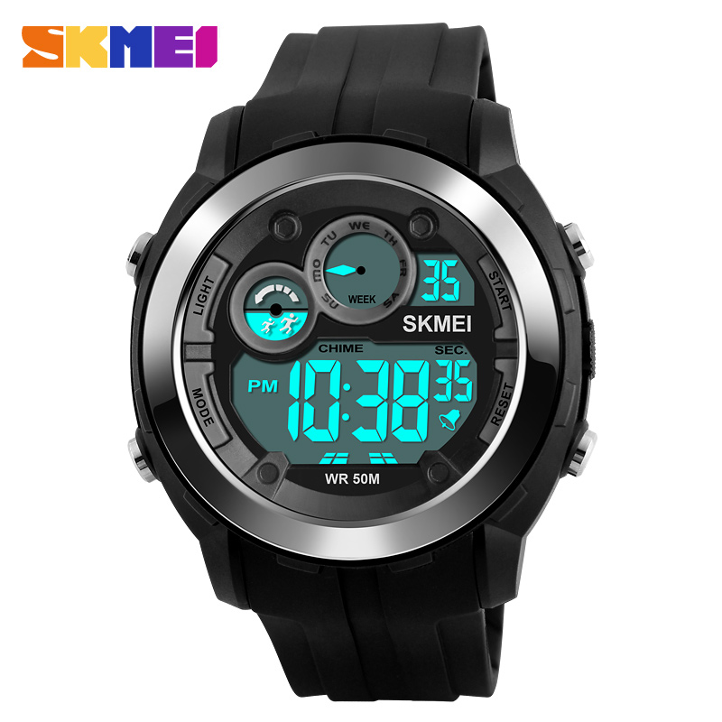 font b SKMEI b font 1234 Outdoor Sports Watches Men Digital Wristwatches Alarm Black Light