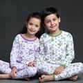 Детская мужская хлопок длинные рукава пижамы комплект девочек пижама на весну и осень детский пижамы установить