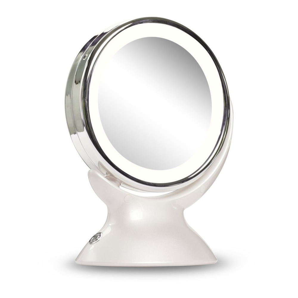 side bath magnifying mirrors in from with magnification led toilet folding mirror light extending lighting item mounted double makeup wall