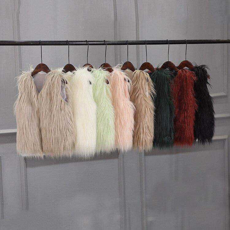 children fur vest Autumn and Winter Childrens Faux Fox Fur Vest Girls Coat Clothing Kids Fashion