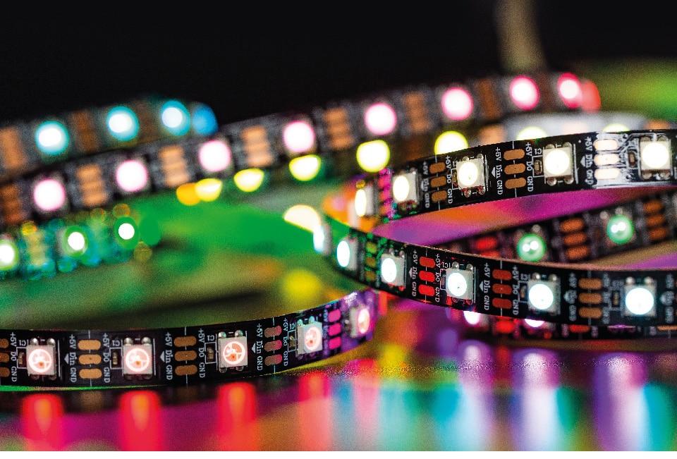 HTB1l2SNXEzrK1RjSspmq6AOdFXaH 1m/2m/4m/5m WS2812B Led Strip 30/60/74/96/100/144 pixels/leds/m WS2812 Smart RGB Led Light Strip Black/White PCB IP30/65/67 DC5V