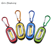 Portable LED Flashlight Mini Handy COB Keychain Torch 3 Lighting Modes For Indoor Outdoor Actives Camping Hiking Night