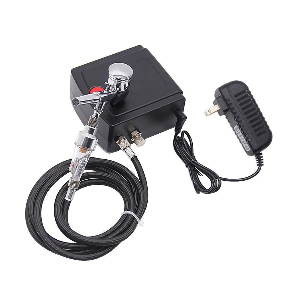 цена на Professional Complete Precision Air Brush Gun Set Model Specific Air Pump Kit with Compressor Spray Airbrush Tattoo Tool Set