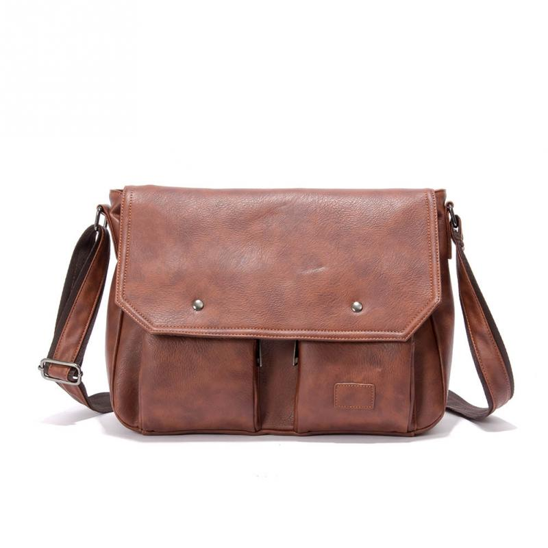 ФОТО New Fashion Shoulder Bag Womens & Girls Vintage Leather Briefcase PU Faux Leather Shoulder Messenger Bag Laptop Bags multicolor