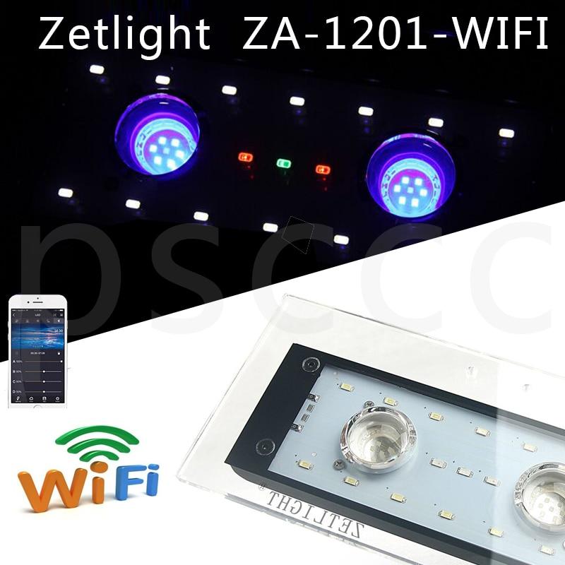 ZET Light Full Spectrum Mobile Phone Control LED Coral Lamp ZA1201L ZA1201WIFI Algal Cylinder Lamp Coralline LED Lamp Fish Tank