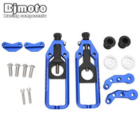 BJMOTO YZFR1 CNC Motorcycle Chain Adjusters with Spool Tensioners Catena For Yamaha YZF R1 2005 Motorbike Rear Axle Spindle