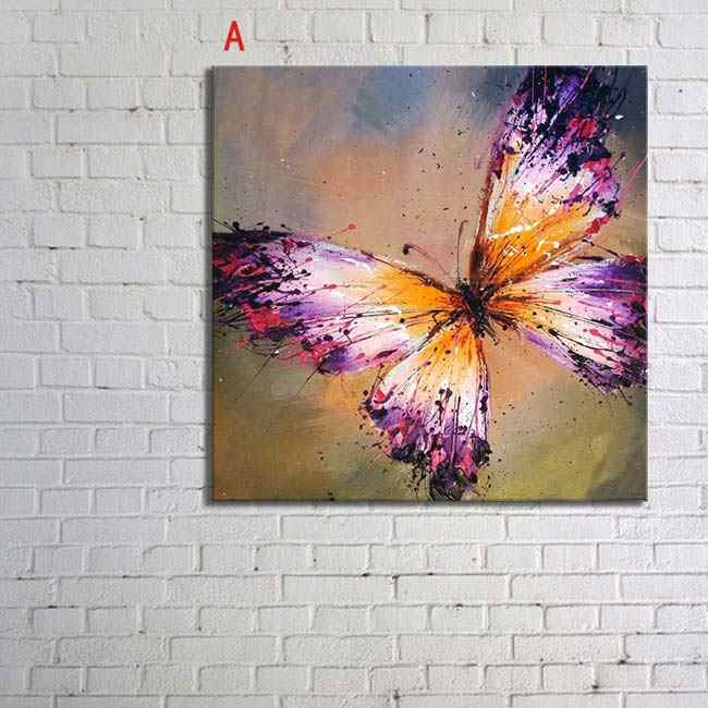 Top Supplier Wholesale High Quality Abstract Butterfly Oil Painting On Canvas Handmade Butterfly Painting For Living Room
