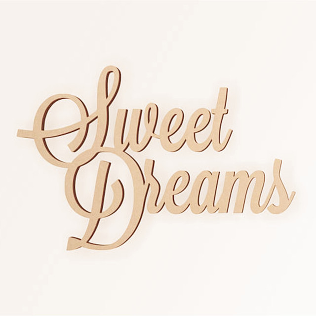 Us 899 10pcs Laser Cut Unfinished Wooden Sweet Dream Sign Home Decor Wall Art Wedding Decorations Diy Craft Scrapbooking In Party Diy Decorations