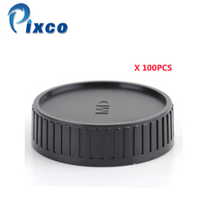 Pixco 100 PCS חליפת עבור Minolta MD הר עדשה, מצלמה מכסה עדשה, עדשת כיסוי עדשה אחורי כובע להגן