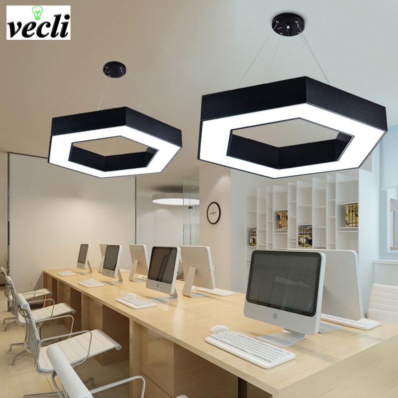 Us 4084 50 Off36 W Hot Moda Z łbem Sześciokątnym Led Lampy Wiszące Geometryczne Biuro żyrandol Jadalnia Salon Sypialnia Kuchnia Lampa światła W