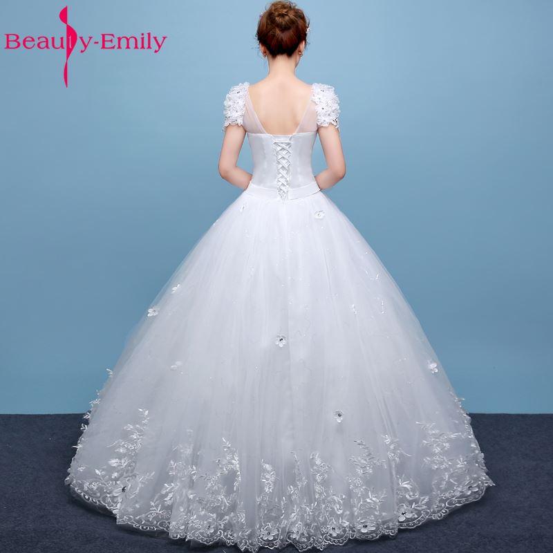 Skönhet-Emily Vit Bröllopsklänningar 2017 Bollkedja Pärlor - Bröllopsklänningar - Foto 5