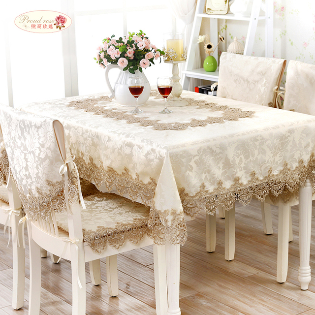 Proud Rose European Lace Round Table Cloth High Grade Tea Table Cloth Cover  Towel Table
