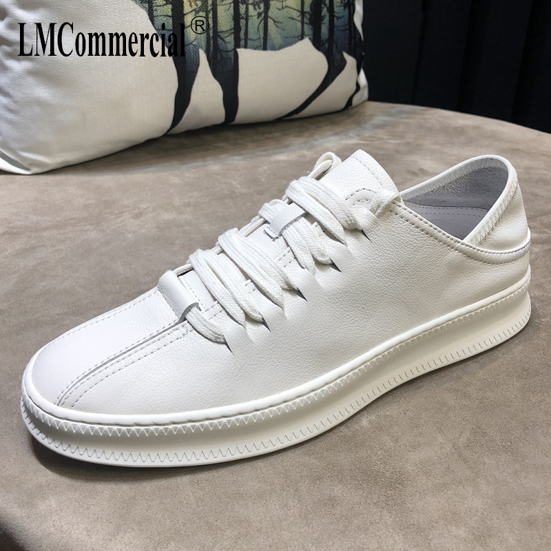 Prawdziwej skóry białe męskie buty wiosna lato mężczyźni na co dzień naturalny skórzane mokasyny skóry wołowej oddychające sneaker buty rekreacyjne w Męskie nieformalne buty od Buty na  Grupa 1