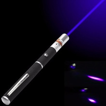 1Pcs 5MW 405nm Purple Laser Pen Powerful Laser Pointer Presenter Remote Lazer Hunting Laser Bore Sighter Without Battery(China)