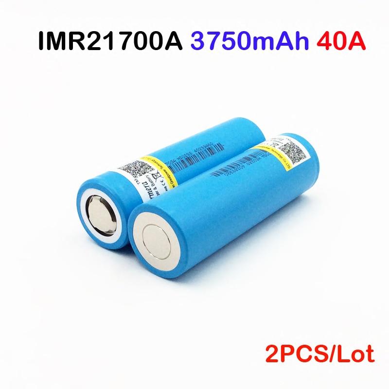 Battery INR21700 3750mah Li-Ni Battery 3.7V 40A for Electronic Cigarette Mod/Kit battery 2pcs 21700 40a electric tools battery