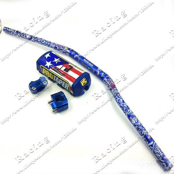 Pro Taper Fat Bar 1 1 8 Blue Metal Mulisha Pack MotorCross Fat Bar MX Aluminum