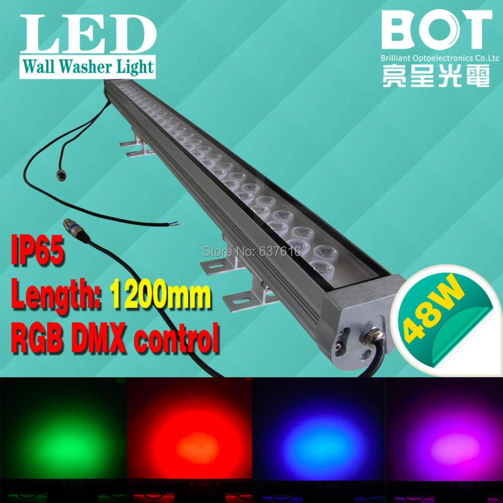 1m rgb led wall washer light 48w rgb color changeable dmx. Black Bedroom Furniture Sets. Home Design Ideas