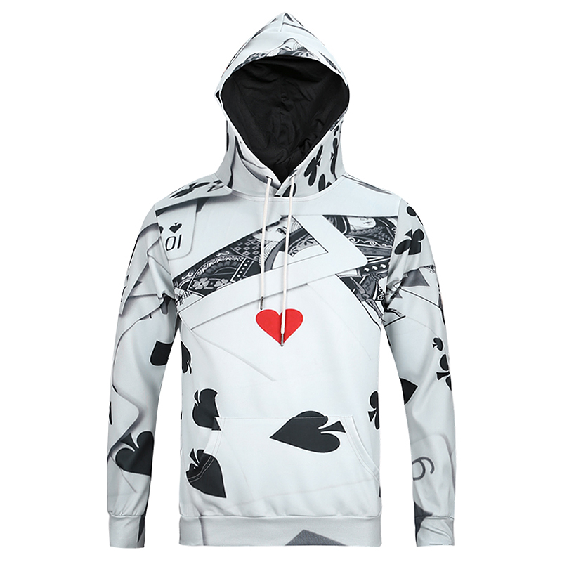 Mr.1991INC Fashion Hoodie Sportswear Men Women Poker Spades Hearts Red Heart Q Pullover Long Sleeve Jacket Coat 3D Sweatshirts