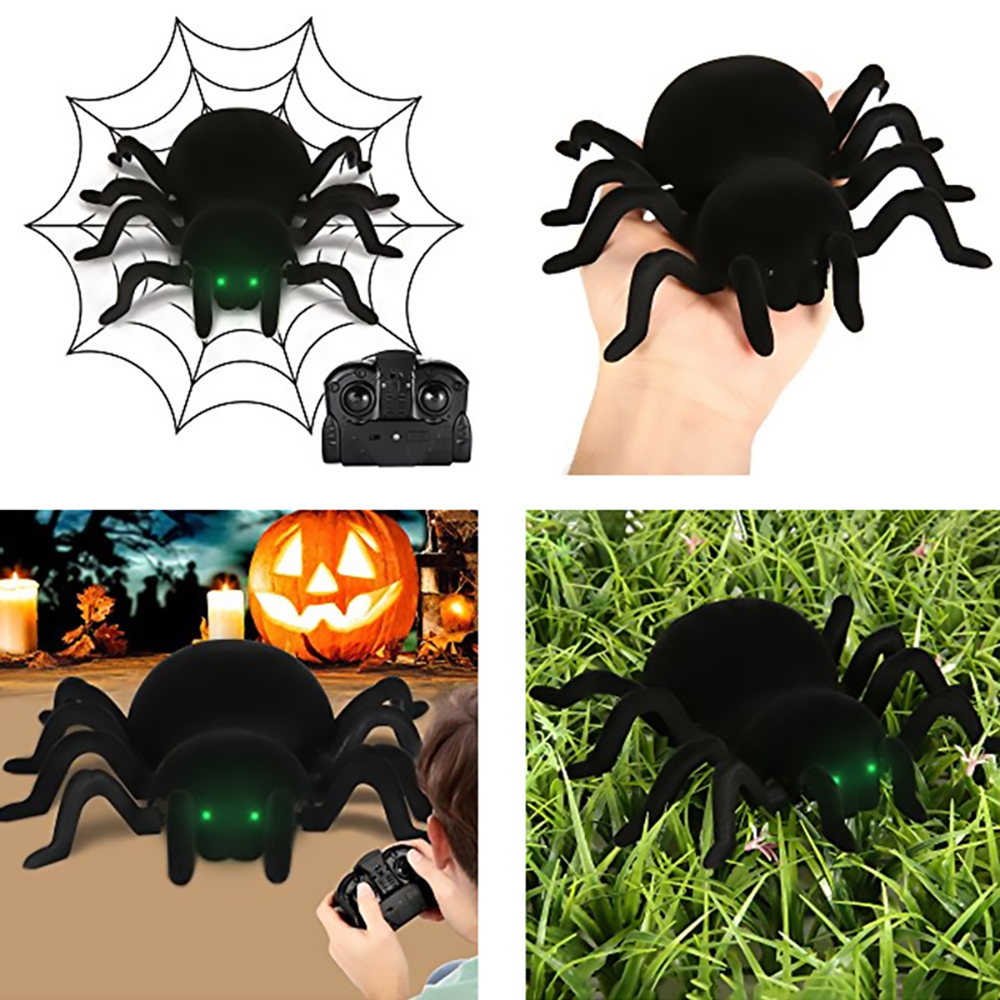 Radio Control RC Animals Simulation Furry Tarantula Electronic Halloween Spider Toy Children Kids Gift Halloween Festival Toys-in RC Robots & Animals from Toys & Hobbies
