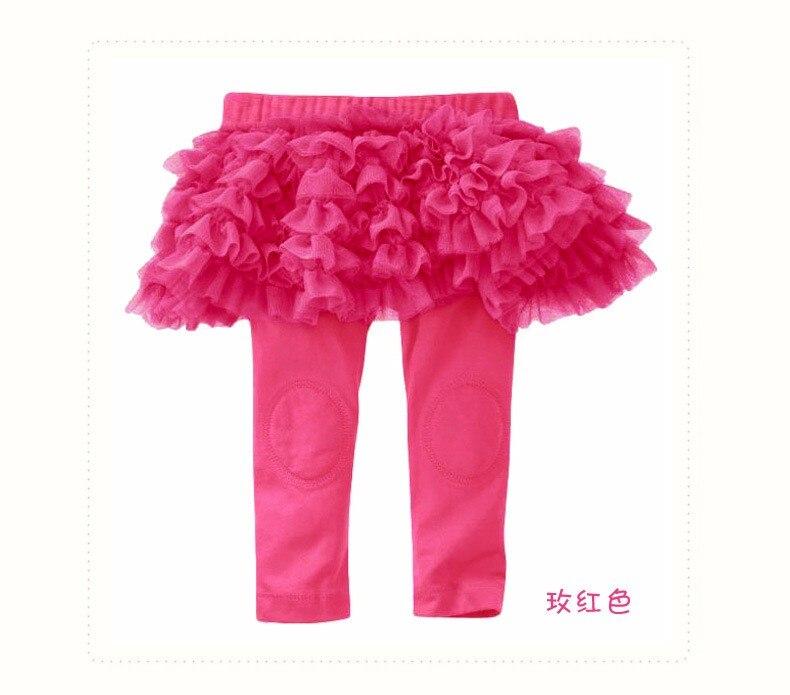 Hp-01; обтягивающие длинные однотонные леггинсы для маленьких девочек с оборками; юбка для От 0 до 3 лет