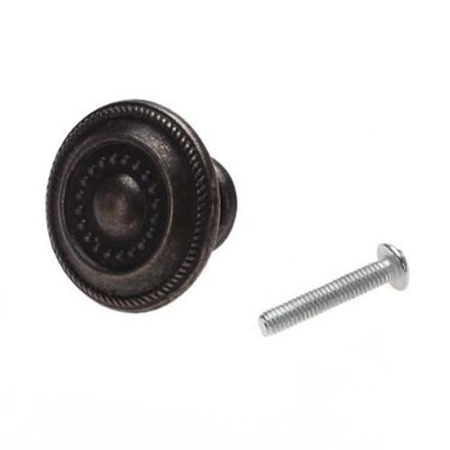 10x Round Cabinet Door Drawer Bin Handle Pull Knob Hardware