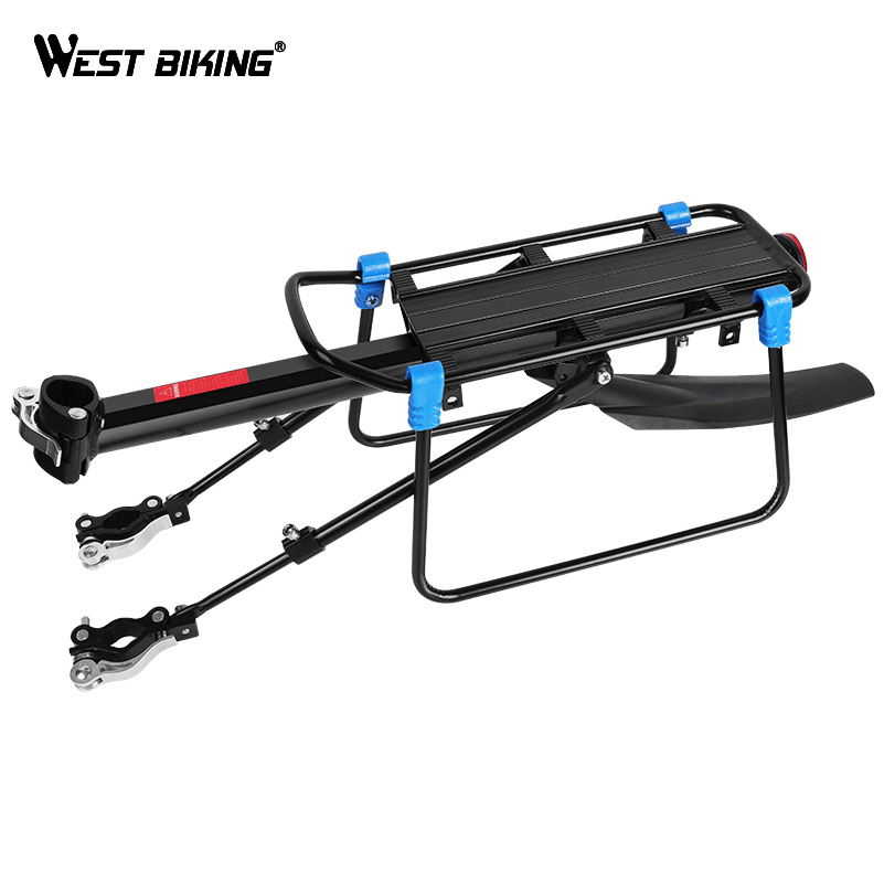 WEST BIKING MTB Bike Luggage Carrier Aluminum Bicycle Cargo Racks for 20 29 inch Shelf Cycling Seatpost Bag Holder Stand RackBicycle Rack   -