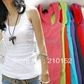 Summer Hot Woman's  Blusas Feminino Thread Vest Lady Brand Braces Cotton Tanks Top Sleeveless T-shirt B05