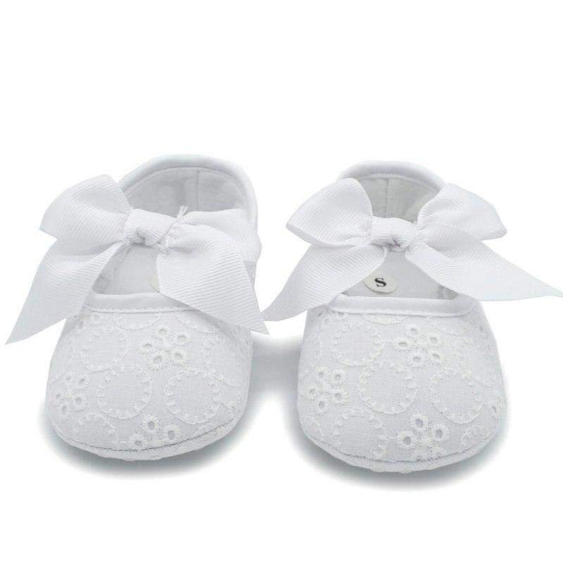 Niño Del Bebé Princesa Srewalker Zapatos de Suela Blanda de Color Blanco Puro Oc