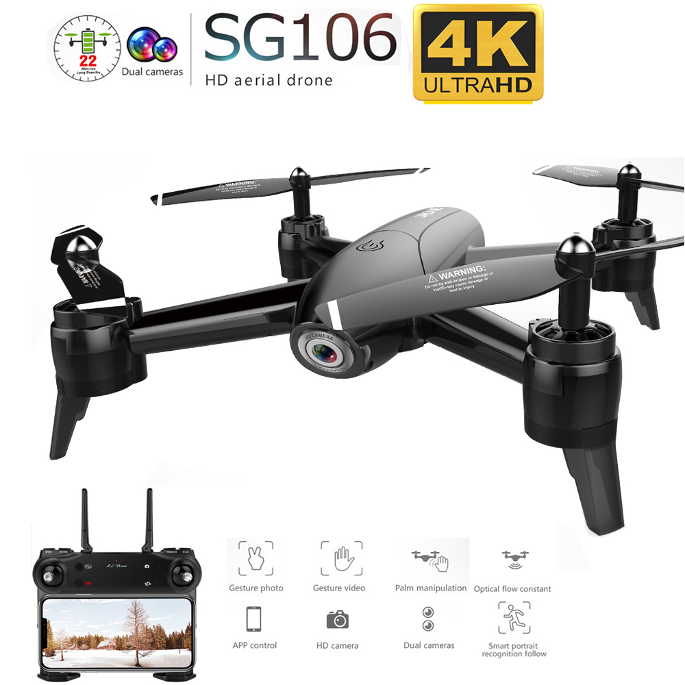 SG106 WiFi FPV RC Drone 4K Camera Optical Flow 1080P HD Dual Camera Aerial Video RC