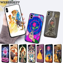 WEBBEDEPP Beauty Beast Rose Princess Silicone soft Case for iPhone 5 SE 5S 6 6S Plus 7 8 11 Pro X XS Max XR