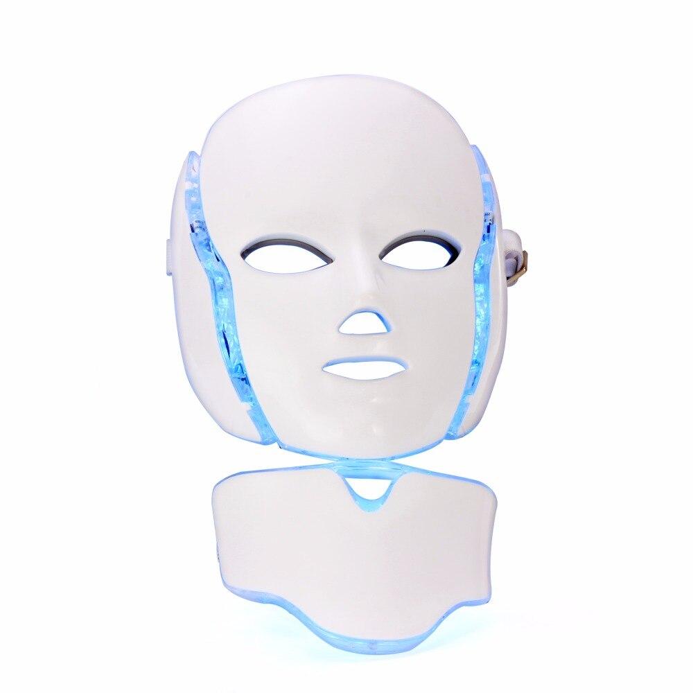 Masque led photonique de luminothérapie avec 7 couleurs pour le visage et le cou