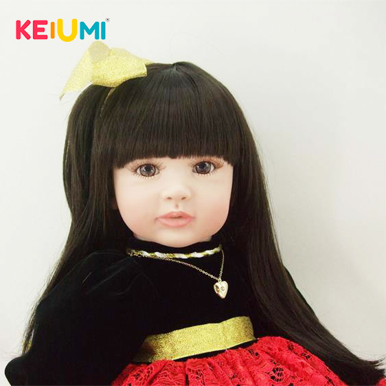 Lovely 22Inch Stuffed Dolls Soft Silicone Baby Reborn 55CM Life Style Reborn  Beautiful Dress Princess Doll For Girl SurpriseLovely 22Inch Stuffed Dolls Soft Silicone Baby Reborn 55CM Life Style Reborn  Beautiful Dress Princess Doll For Girl Surprise