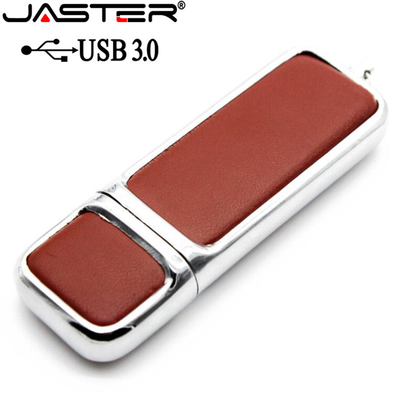 JASTER USB 3.0 Leather USB Flash Drive Pen Drive 4GB 8GB 16GB 32GB Commercial Pendrive Fashion Memory Stick U Disk