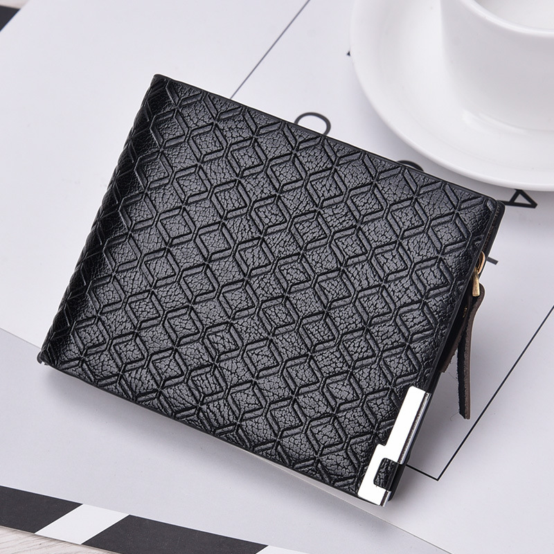 Multi-card bit new leather mens wallet small brand mens credit cards and multi-function business cards wallet