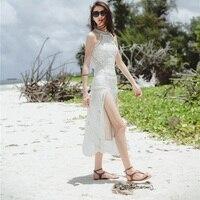 Vestidos 2018 Spring Summer Dress Women Casual Street Side Split Print Lace Sexy Dress Vintage Shein