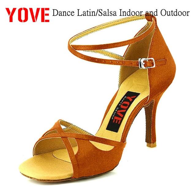 ce6466c3 YOVE estilo w124-8 Danza Latina/Salsa de interior y al aire libre zapatos