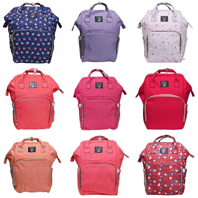 купить Large Capacity Baby Bag Multi-Function Travel Backpack Nappy Bags Nursing Bag Fashion Mummy Bag Roomy Waterproof for Baby Care по цене 2487.35 рублей