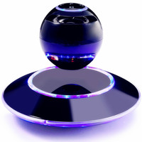 Stereo Sound Portable Wireless Floating Orb Bluetooth Speaker LED Magnetic Levitation Speaker For Mobile Phone MP3