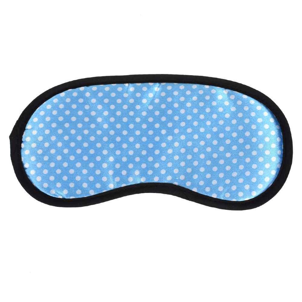Dot พิมพ์ Sleeping Eye Mask 2018 ใหม่แบบพกพา Soft Travel Sleep Rest Aid Eye Mask Cover Eye Mask กรณี
