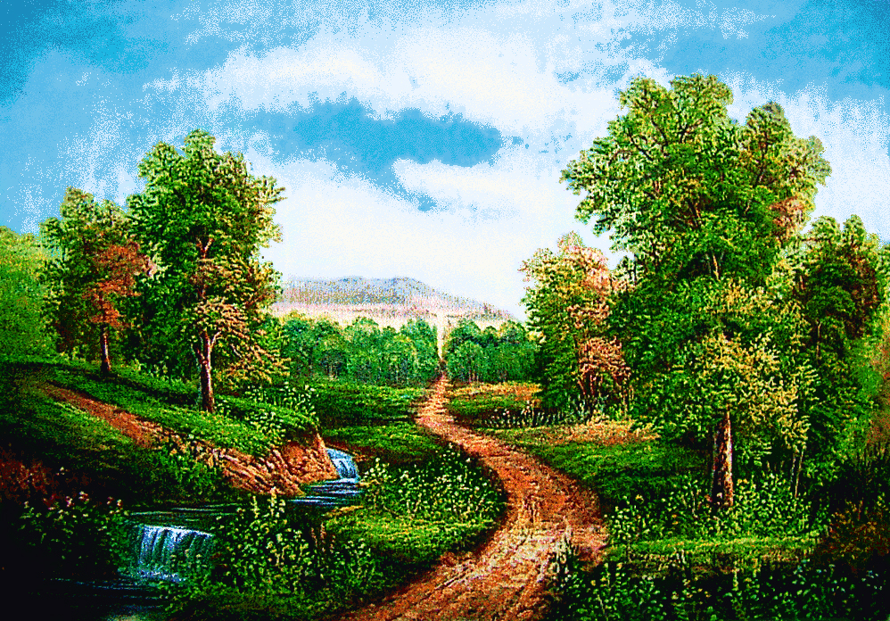 Free Shipping Scenery Wall TapestryThe Pathway On Countrysideclassical Designsize 30x40cm Decor Picture For Small Room In Painting Calligraphy From