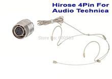 цена на Beige Dual Hook Omni-directional Headset Head Microphone For Audio-Technica  Wireless MIC system