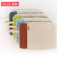 Portable Solid Oxford Canvas A4 Big Capacity Document Bag Business Briefcase Storage File Folder for Papers Stationery