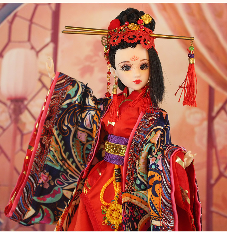 Здесь продается  35CM Collectible Chinese Dolls With 3D Realistic Eyes Joint Body Pretty Bjd Dolls Girls Toys Christmas Gifts For Childr  Игрушки и Хобби