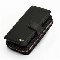 Multifunctional Zipper Wallet Case For Samsung Galaxy S5 I9600 PU Leather Detachable Flip Cover Phone Bag