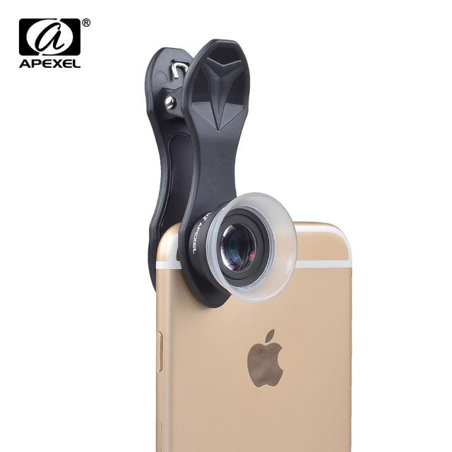 APEXEL מקצועי 12X/24X עדשת מאקרו טלפון סלולרי מצלמה עדשת סופר מאקרו עבור iPhone 6 6 בתוספת וכל smartphone
