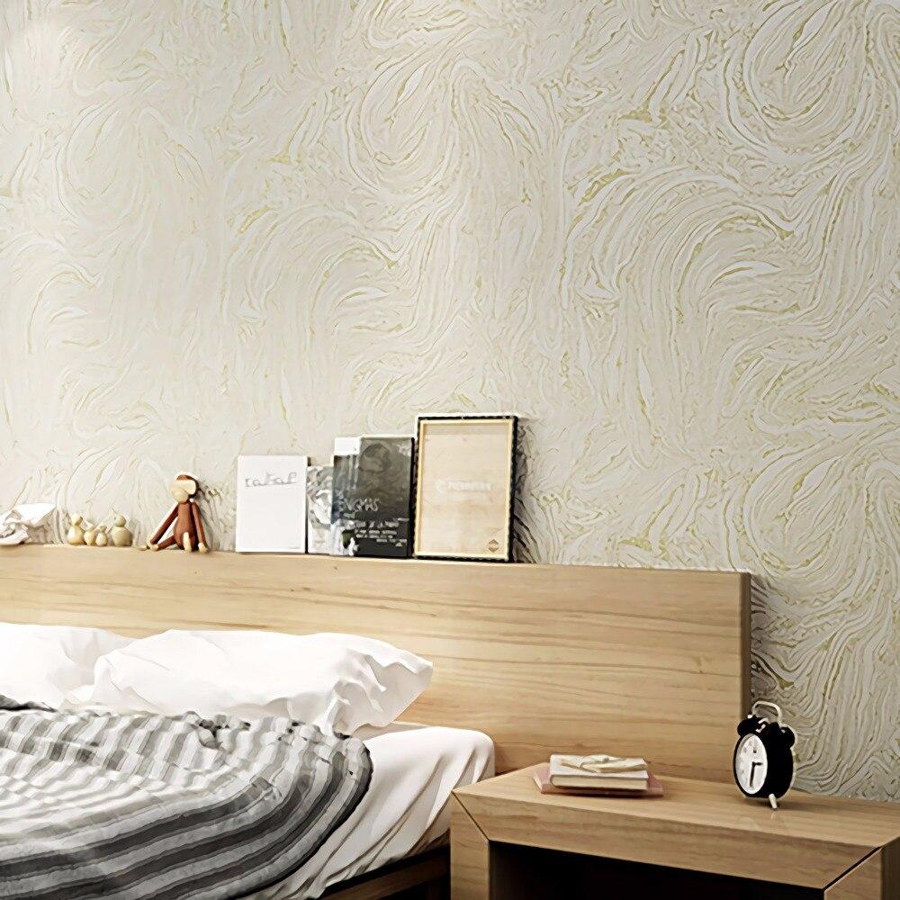 Grijs/Wit/Beige Moderne Metallic Marmeren Behang Roll Abstract ...