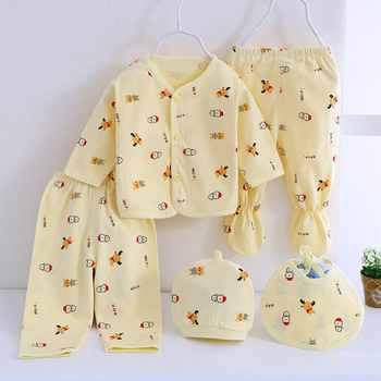 Bekamille 5pcs/set Newborn Set Baby Clothes infant suits Boys Girls Clothing Cotton Underwear Baby Accessories
